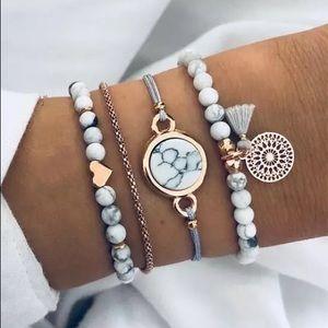 Jewelry - NEW Set of 4 bohemian charm bracelets